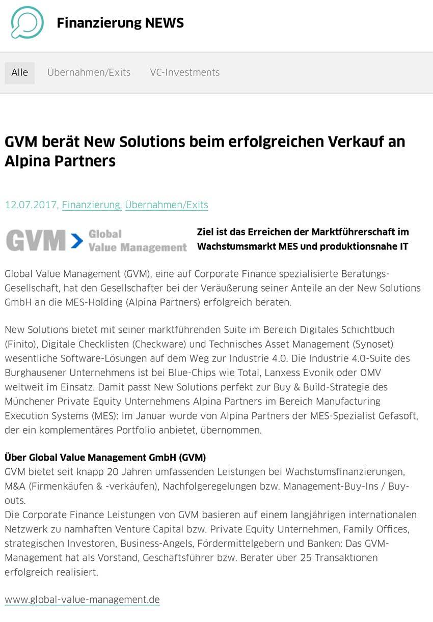 GVM > Global Value Management